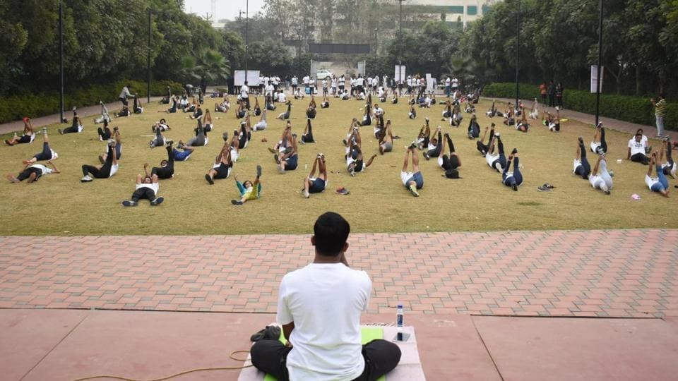 A yoga event called DiscoveRUN was organised by Sport Alpha on January 27 at Abhishek Lawns, Wagholi. It was conducted as a cool-down event after the half-marthon race of the day.