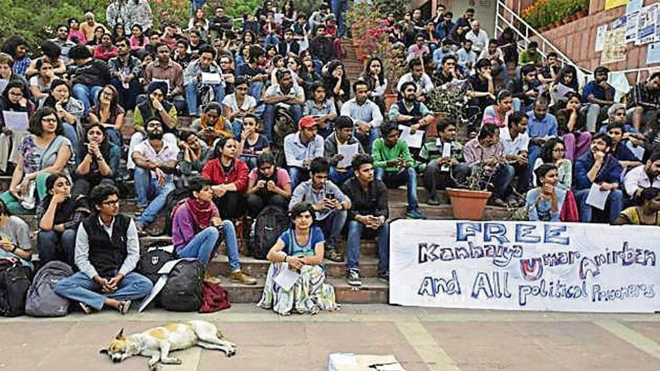 Ten people, including JNU students, are facing sedition charges.