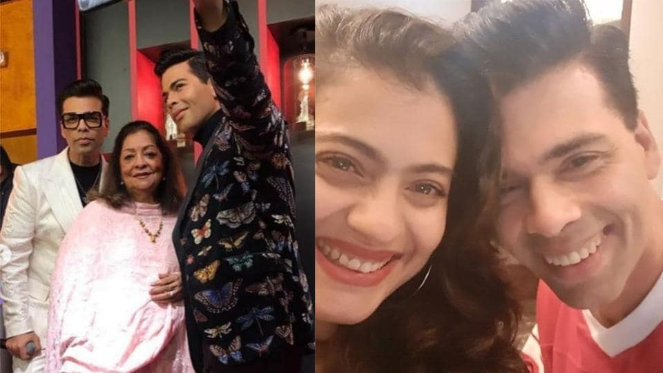 Kajol shared a selfie with Karan Johar to congratulate him for his wax statue at Madame Tussauds.