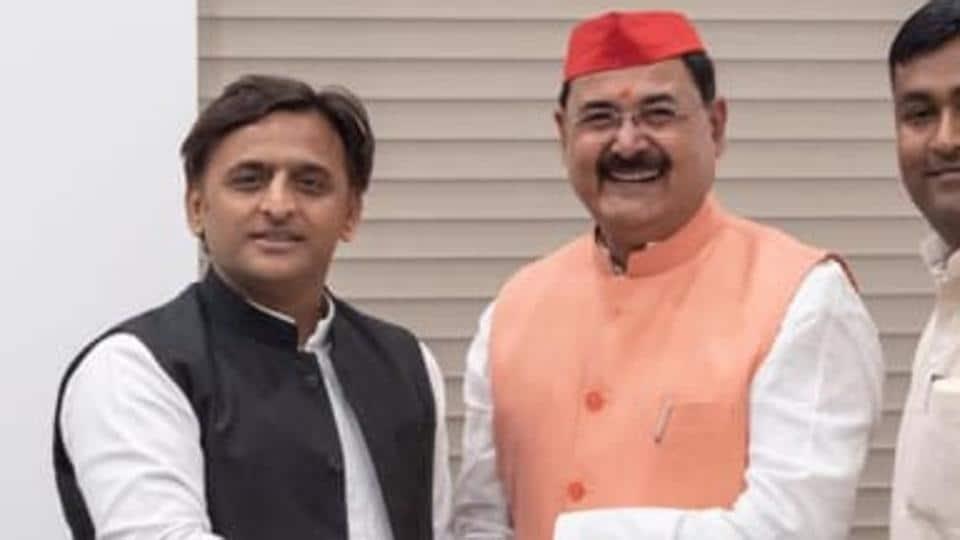 IPSingh with SP chief.