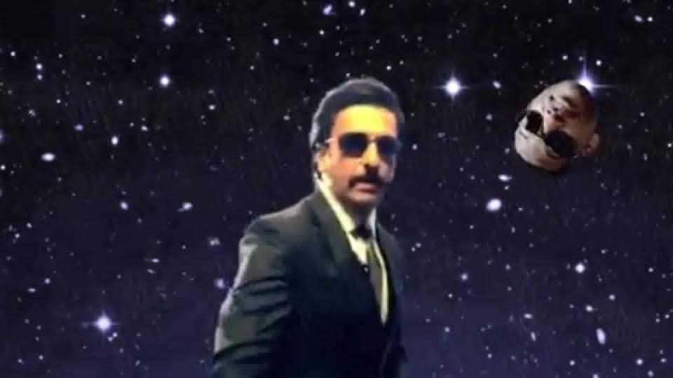 Ranveer Singh in a screengrab from his new video, dedicated toWillSmith.