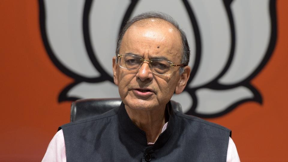 Arun Jaitley defends electoral bonds, ask opponents to suggest alternatives. (Photo by Mohd Zakir/ Hindustan Times)