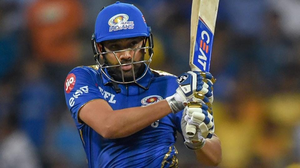 Rohit Sharma plays a shot during the Indian Premier League 2019.