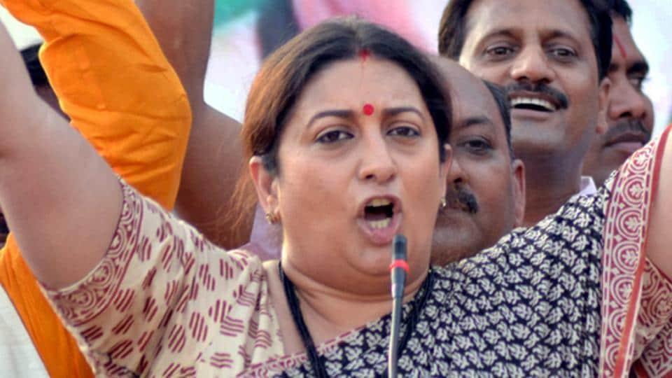 Union minister Smriti Irani is contesting against Congress president Rahul Gandhi at Amethi Lok Sabha seat.
