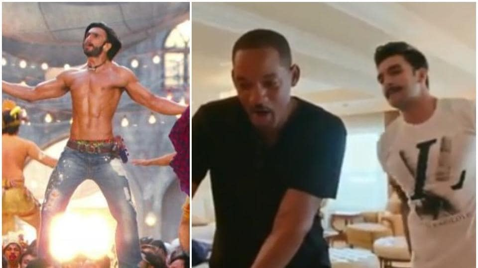 Will Smith and Ranveer Singh in a viral video clip.