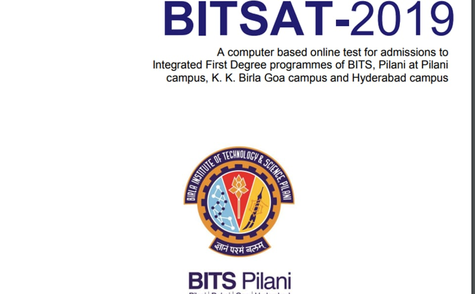 BITSAT 2019 Exam Date Slot Booking on