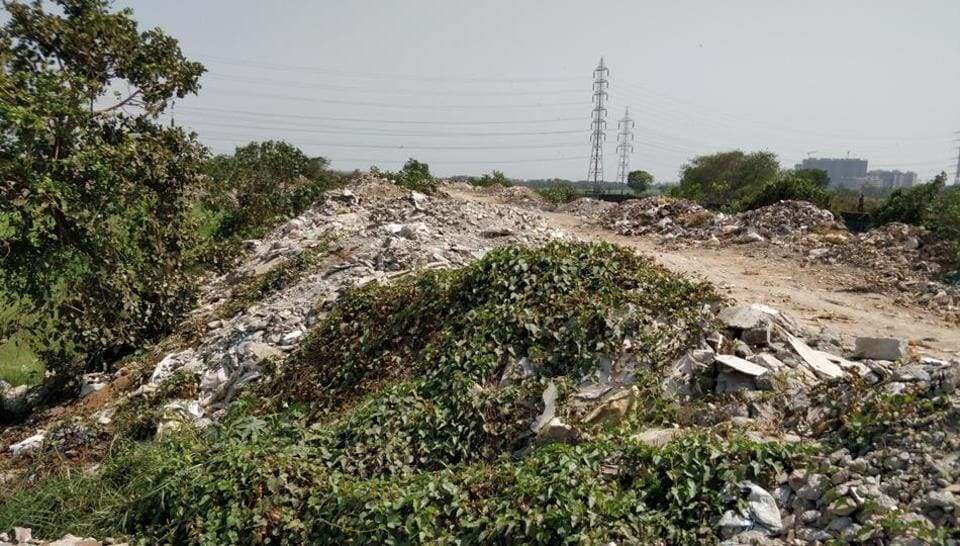 File photo of debris dumped at Bhandup (East)