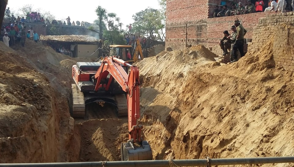 It is not clear how Seema fell into the borewell, which was being dug up by her uncle Mahesh Singh