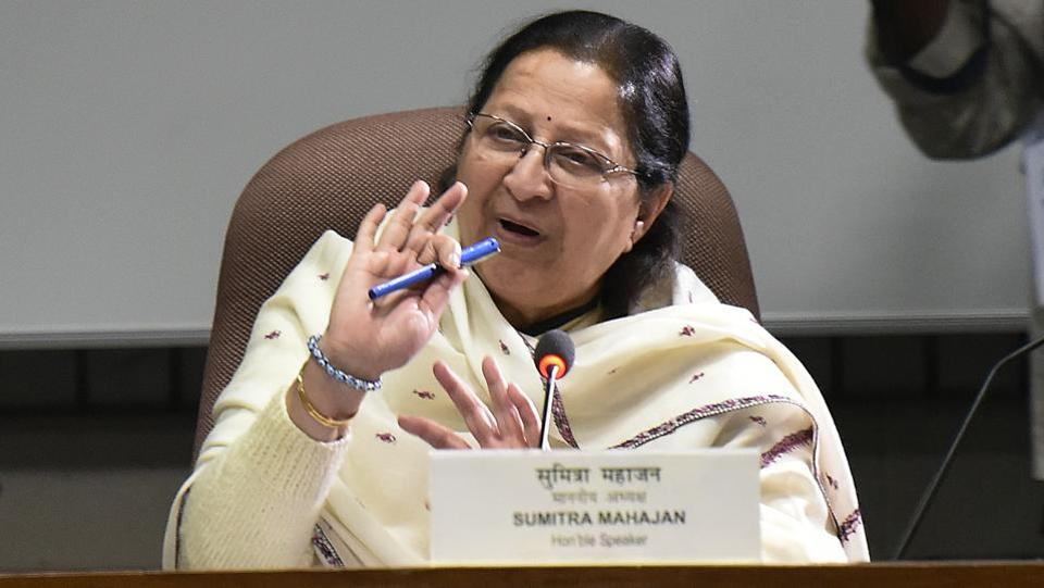 "Lok Sabha Speaker Sumitra Mahajan has announced that she will not contest the Lok Sabha elections. Mahajan issued a statement on Friday to this effect wondering why there is ""indecision"" in the party over announcing Lok Sabha candidate from Indore seat. Mahajan turns 76 on April 12. (Vipin Kumar / HT File)"