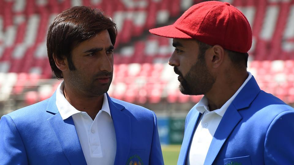 File image of Asghar Afghan and Rashid Khan.