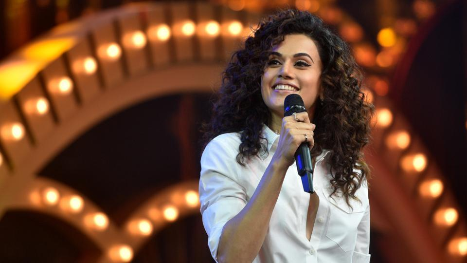Taapsee Pannu on HT most Stylish Awards 2019.