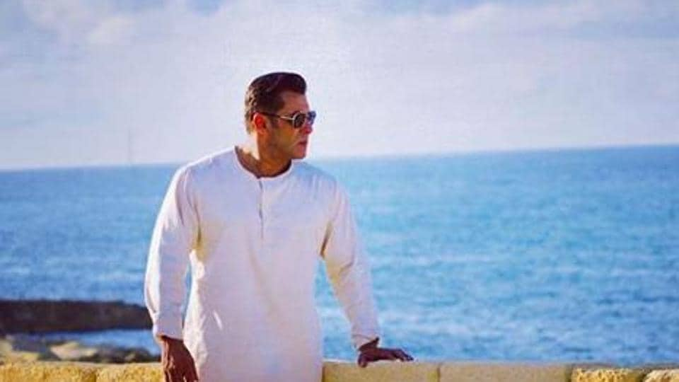 Salman Khan in a throwback picture from the sets of Bharat in Malta.