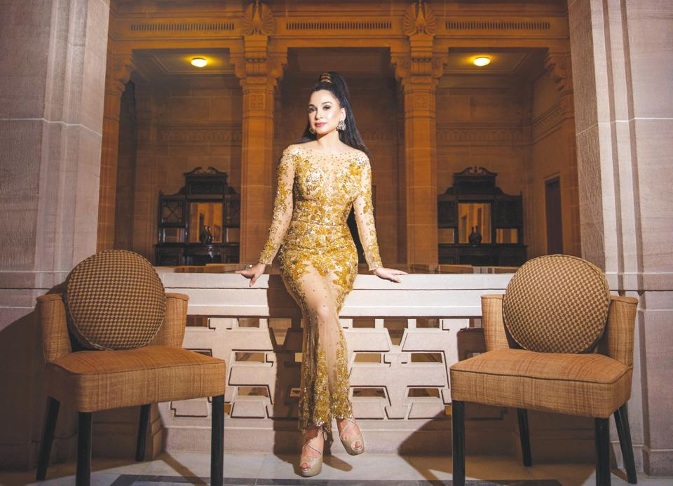 Sheetal Mafatlal is a luxury consultant and media influencer; Make-up and hair: Shalini Singh; Outfit: Zuhair Murad