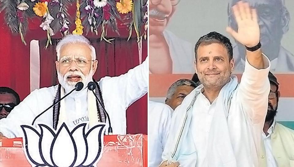 Prime Minister Narendra Modi and Congress president Rahul Gandhi escalated their war of words on the campaign trail on Saturday, with less than a week left for the first phase of polling in the 2019 general election.