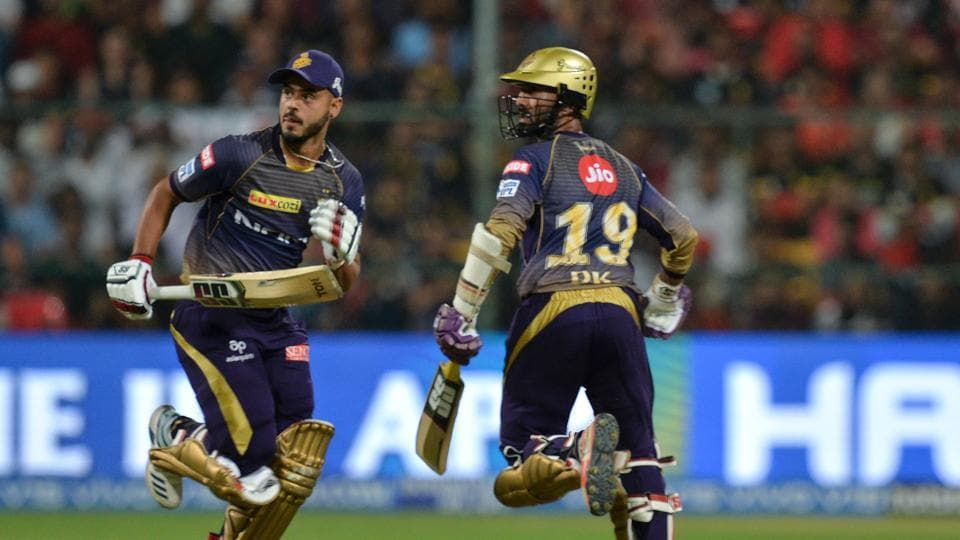 File image of Dinesh Karthik, Nitish Rana