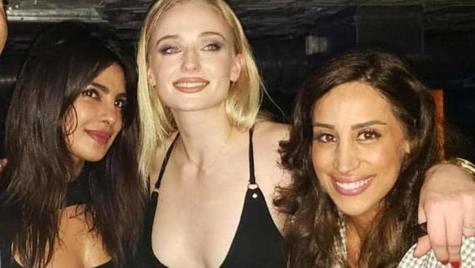 Priyanka Chopra, Sophie Turner and Danielle Jonas at the Jonas Brothers concert.
