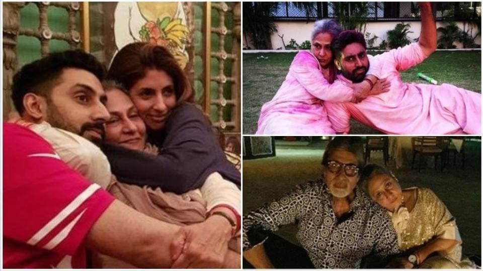 Jaya Bachchan is the happiest when she is with her family.