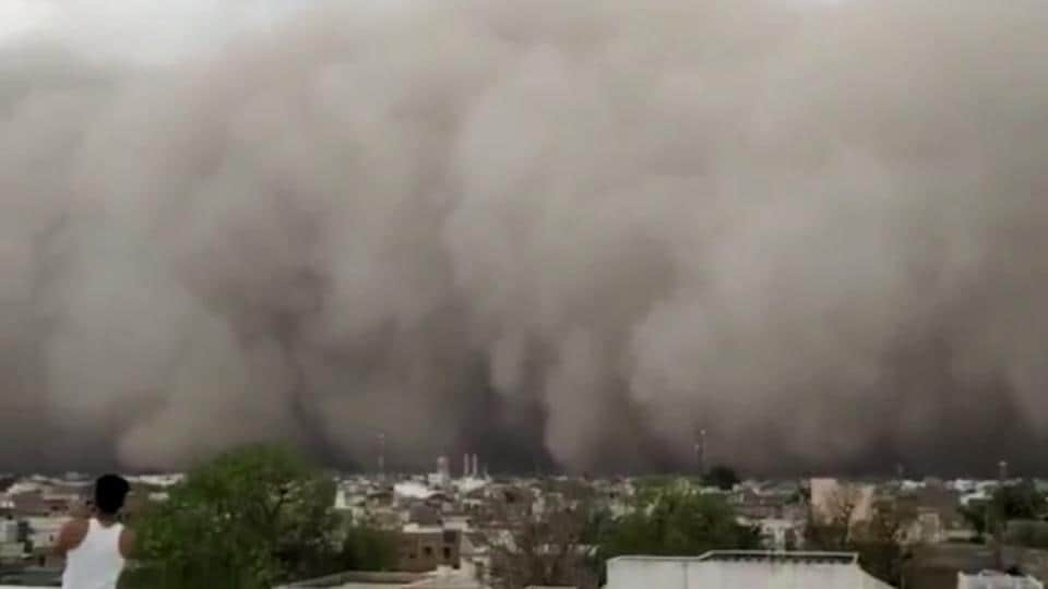 Various parts of Rajasthan witnessed huge dust storms on Sunday.