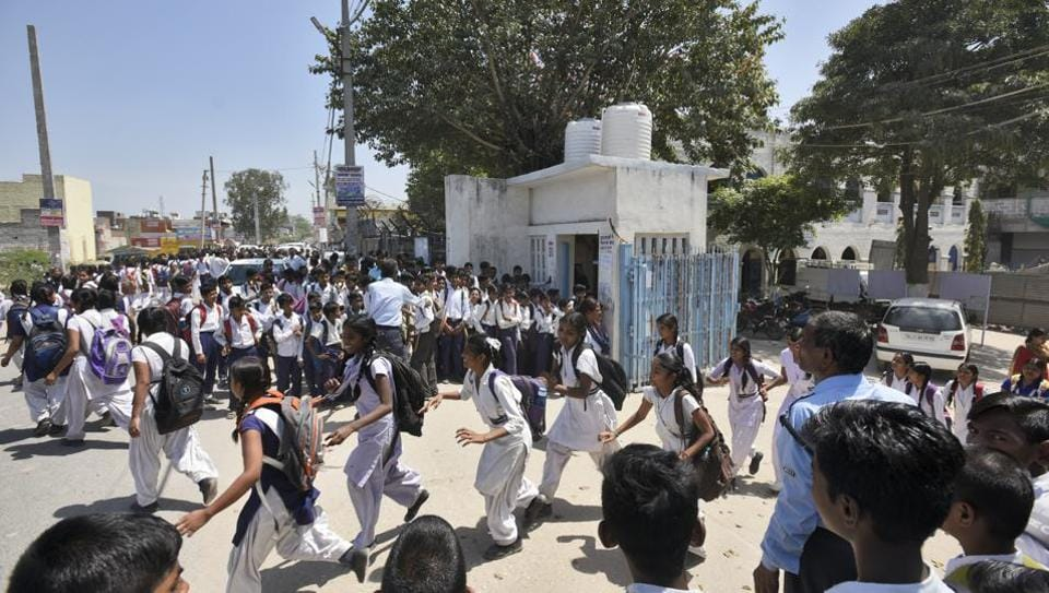According to officials at the directorate of education (DoE), this school is perhaps the only school in Delhi that works in four shifts.
