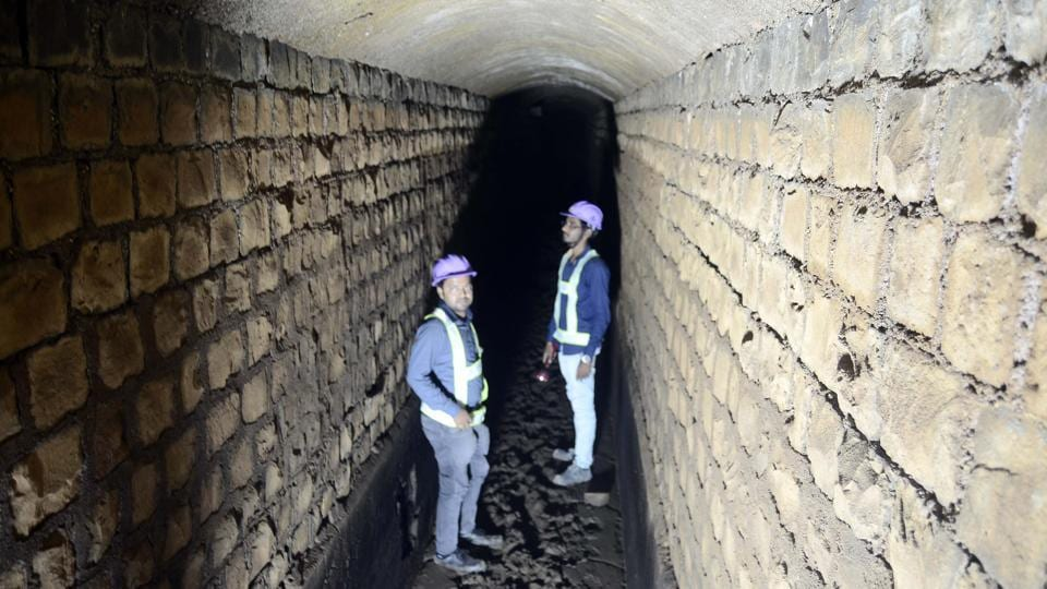 The under ground tunnel at Swargate in Pune was discovered while digging for the metro rail line.