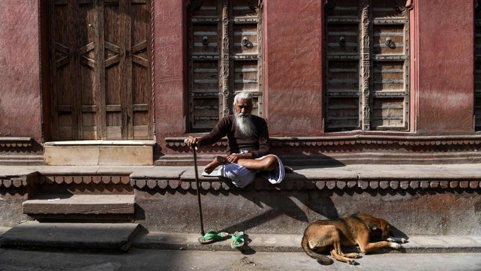 An elderly man sits outside a haveli in Bikaner. But there has been little cash or interest in saving the havelis of Bikaner, a once fabled desert outpost where the sands of Rajasthan skirt the city's ramparts. Some 500 kilometres southwest of New Delhi, today it struggles to attract tourist interest and seems largely untouched by India's recent economic success. (Chandan Khanna / AFP)