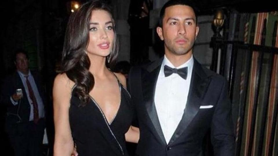 AmyJackson and George Panayiotou had been together for a year before getting engaged on January 1 inZambia.
