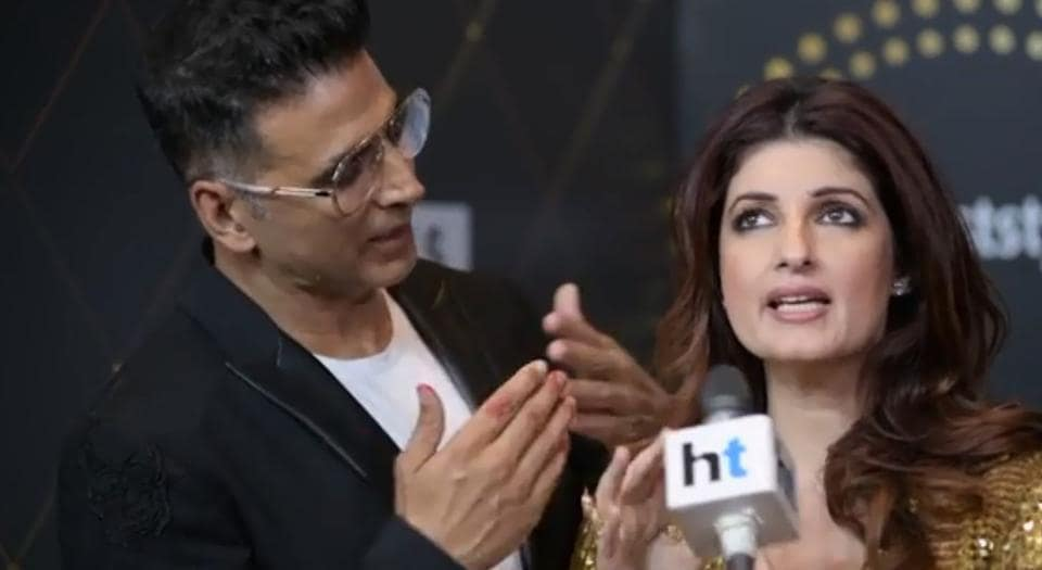 Akshay Kumar and Twinkle Khanna at the HT India's Most Stylish Awards.