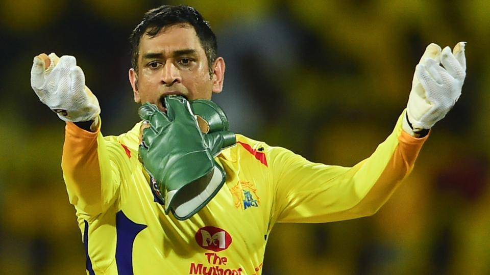 MS Dhoni during the Indian Premier League 2019 match between Chennai Super Kings (CSK) and Kolkata Knight Riders (KKR).