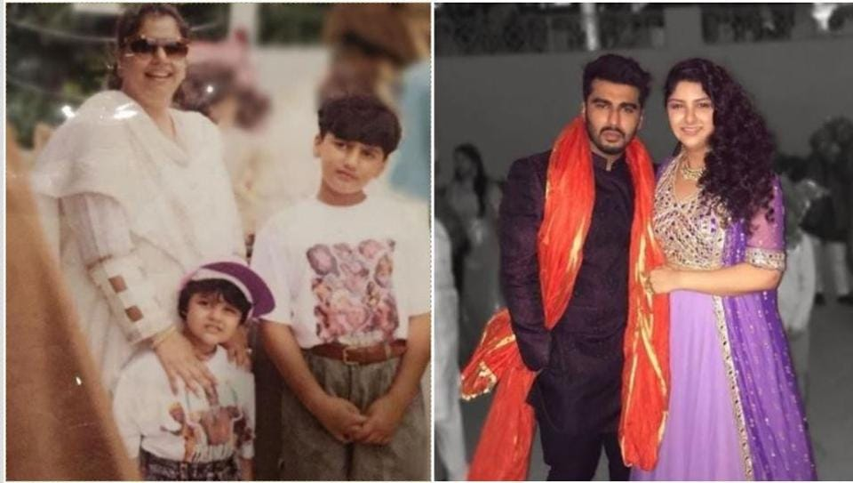 Arjun Kapoor has shared a throwback picture with his mother and sister Anshula.