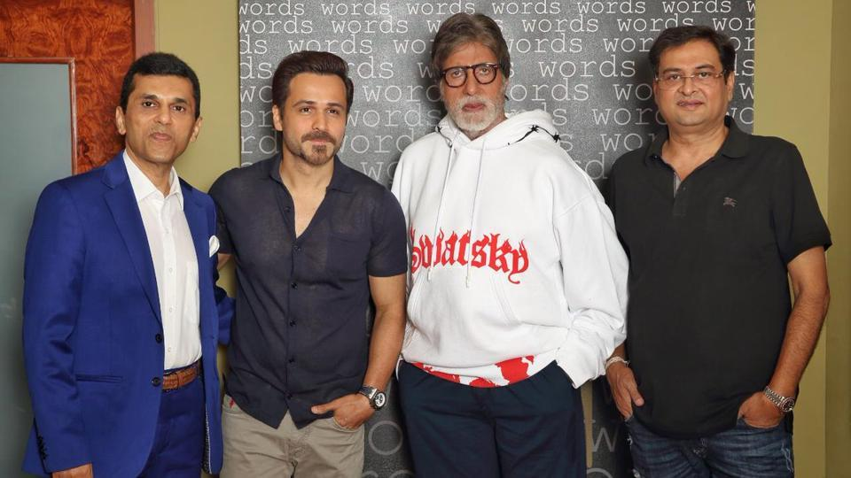 Taran Adarsh posted a picture of Amitabh Bachchan andEmraan Hashmi while sharing the news on Twitter.