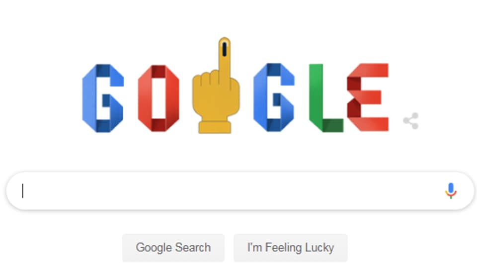 This doodle's reach was only for India where the world's largest democratic exercise kicked off earlier in the day.