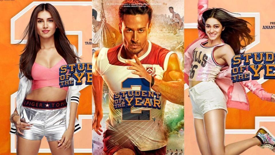 Student of the Year 2 new posters introduce Tara Sutaria, Tiger Shroff and Ananya Panday.