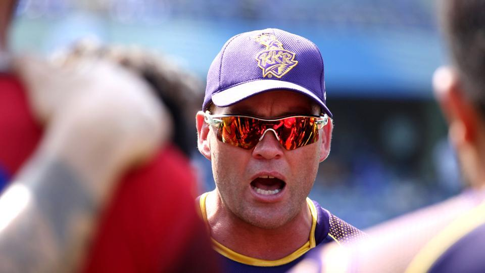 File image of KKR coach Jacques Kallis in action during a training session.