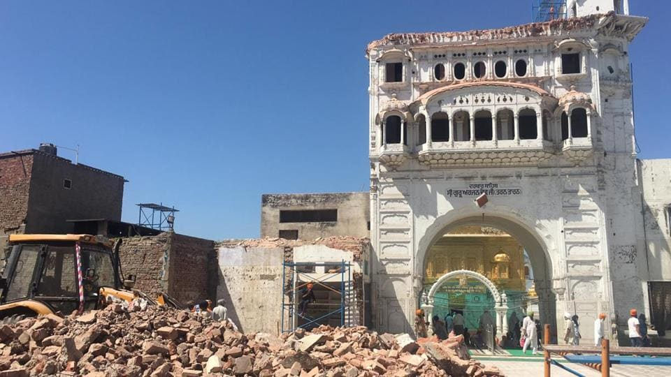 The historic Darshani Deori of Darbar Sahib in Tarn Taran which was demolished by activist of Tarn Taran Kar Sewa on  March 31, 2019.