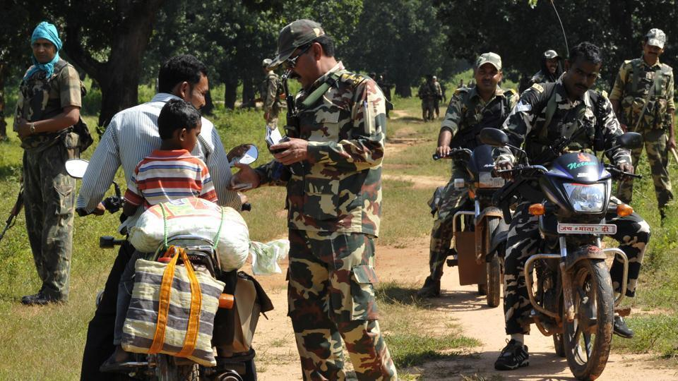Around 80,000 state and paramilitary personnel were deployed in the Bastar region for peaceful polling in view of a boycott call by Maoists.