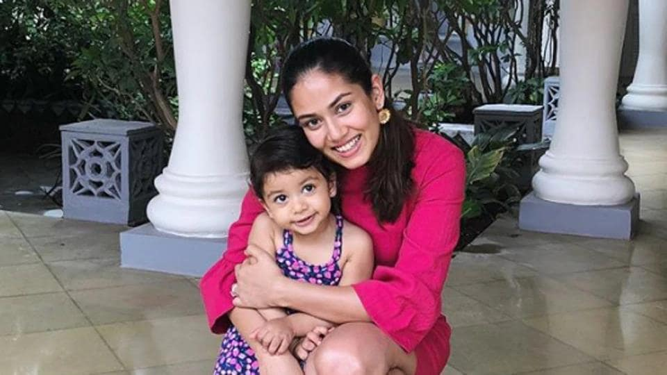 Mira Rajput poses with her daughter Misha.