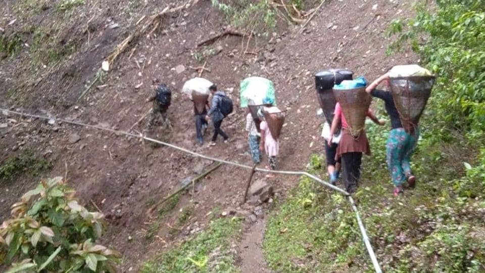 In Arunachal Pradesh, it took two days to reach several polling stations situated at inaccessible areas.
