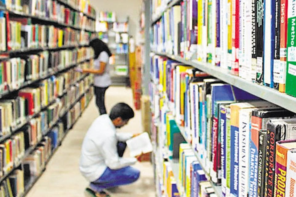 The library. Krea university, in Sri City in Andhra Pradesh, is currently functioning out of a 40-acre campus, but work has begun on building a world-class campus on a 200-acre site.