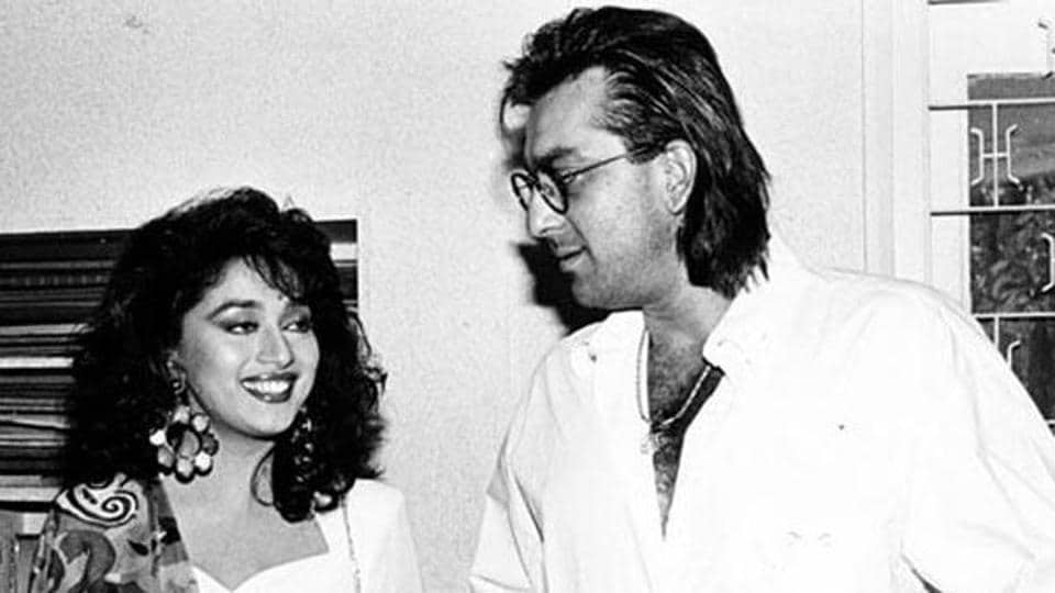 Madhuri Dixit and Sanjay Dutt in a file photo.