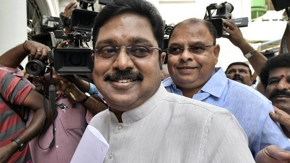 TTVDhinakaran leader of Amma Makkal Munntera Kazhagam (AMMK) party.