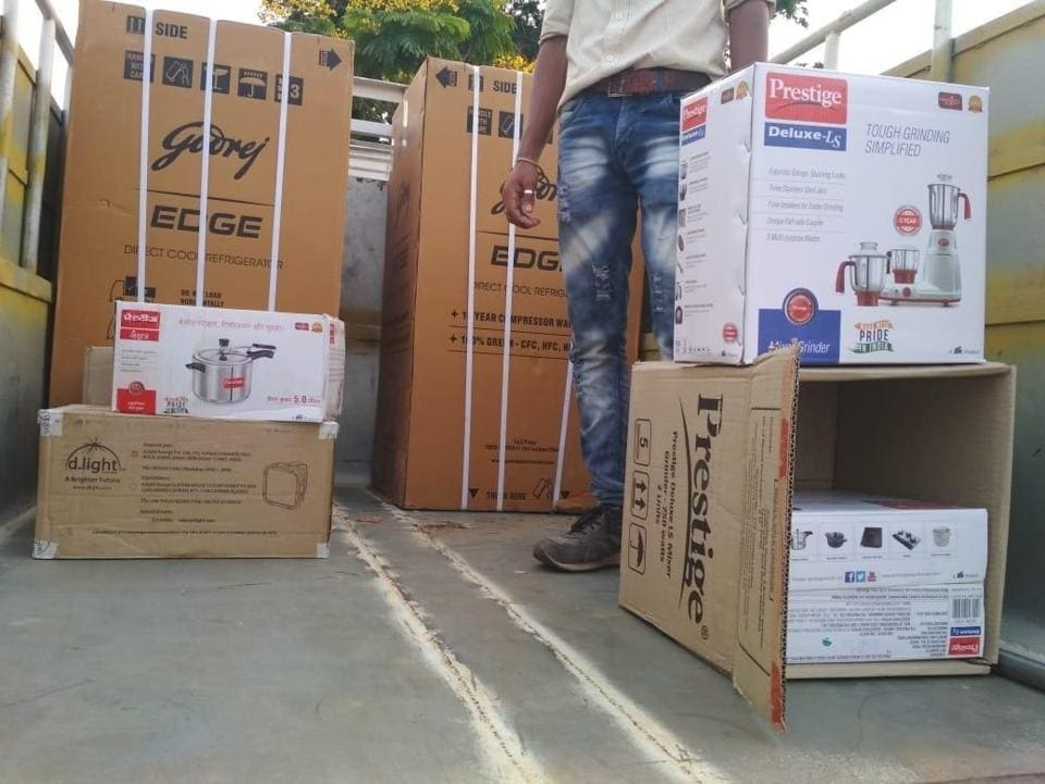 The home appliances were seized from a truck in Kanas, 50 km south of Bhubaneswar onSunday.