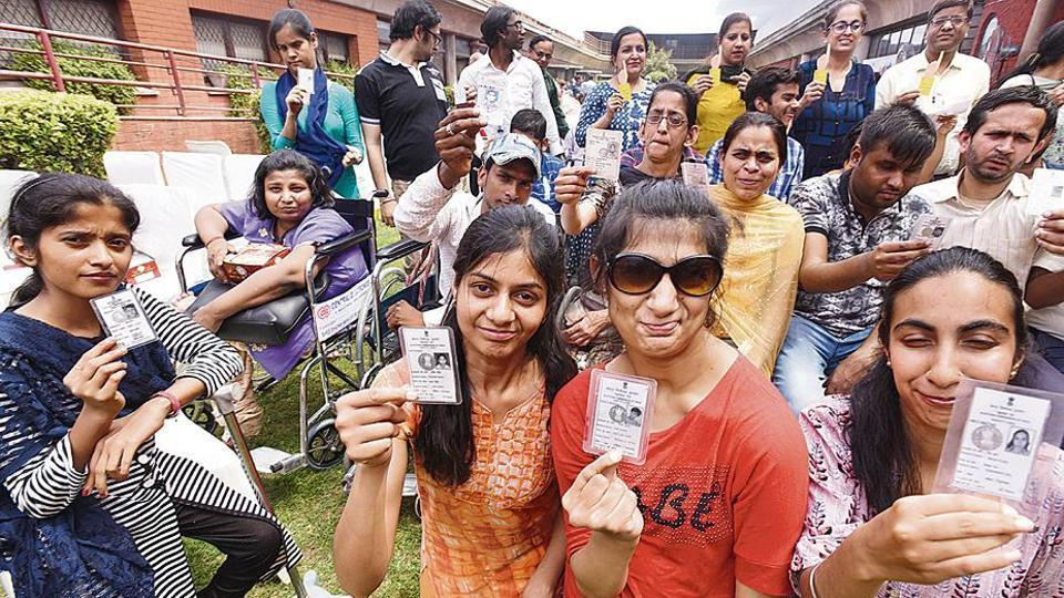 Specially abled people at an awareness programme on 'accessible elections', organised recently by the Chief Electoral Officer, Delhi, in collaboration with an NGO.