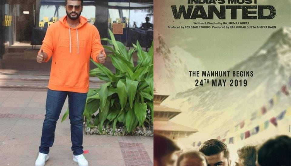 Arjun Kapoor's shares the poster of his next film, India's Most Wanted.