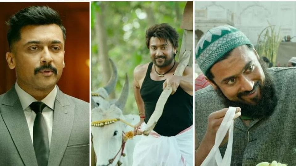 Suriya will be seen in many disguises throughout Kaappaan.