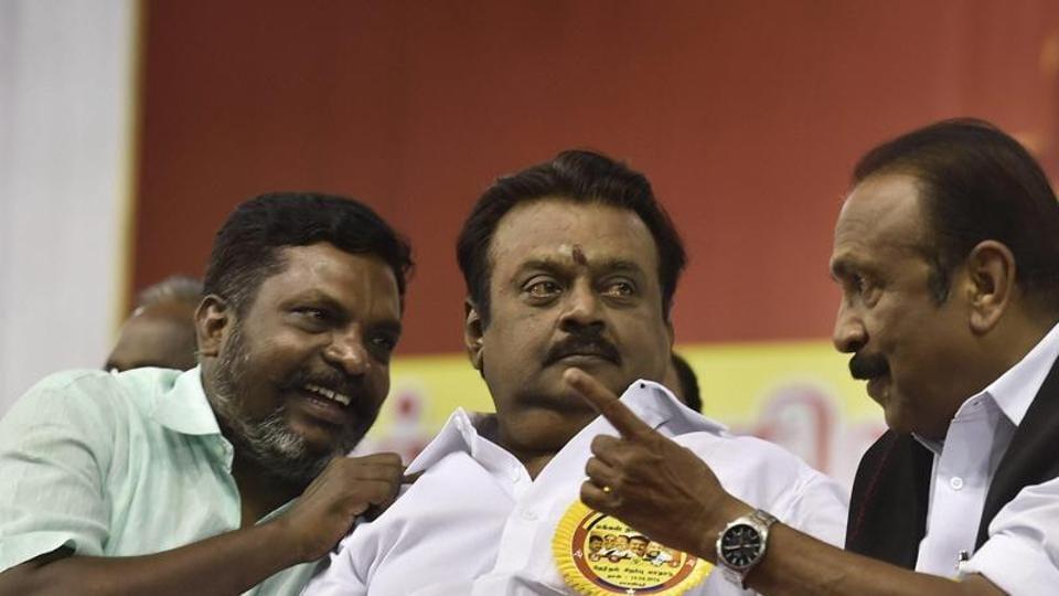 Vijayakanth's DMDK  is contesting four Lok Sabha seats in Tamil Nadu.
