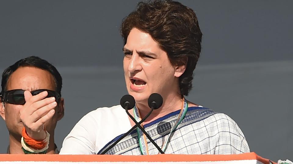 Priyanka Gandhi was campaigning for Congress candidate Raj Babbar in Uttar Pradesh's Fatehpur Sikri on Monday.