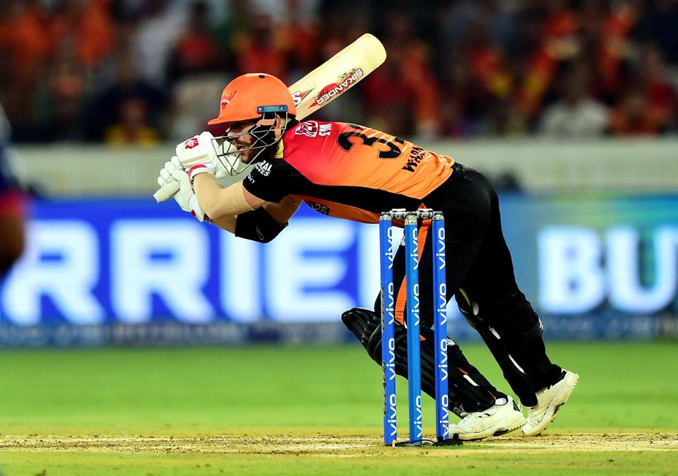 Hyderabad: Sunrisers Hyderabad (SH) batsman David Warner plays a shot during the Indian Premier League 2019 (IPL T20) cricket match between Sunrisers Hyderabad (SH) and Delhi Capitals (DC) at Rajiv Gandhi International Stadium in Hyderabad. (PTI)