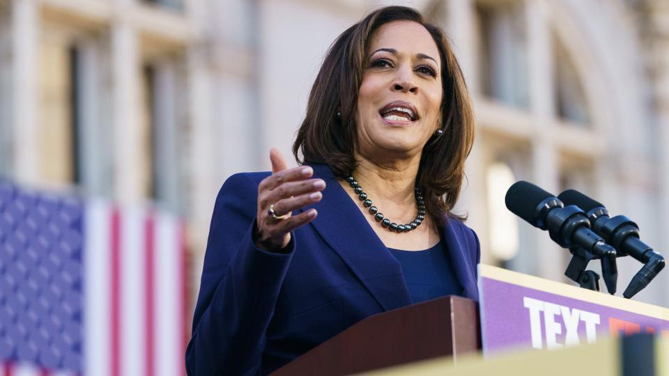 U.S. Senator Kamala Harris and her husband reported more than $2 million in income on their 2018 federal tax return.