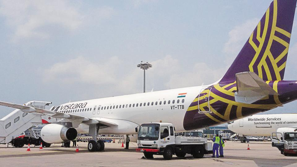 Vistara UK987 flying from New Delhi to Mumbai landed at the airport at 3.15 pm