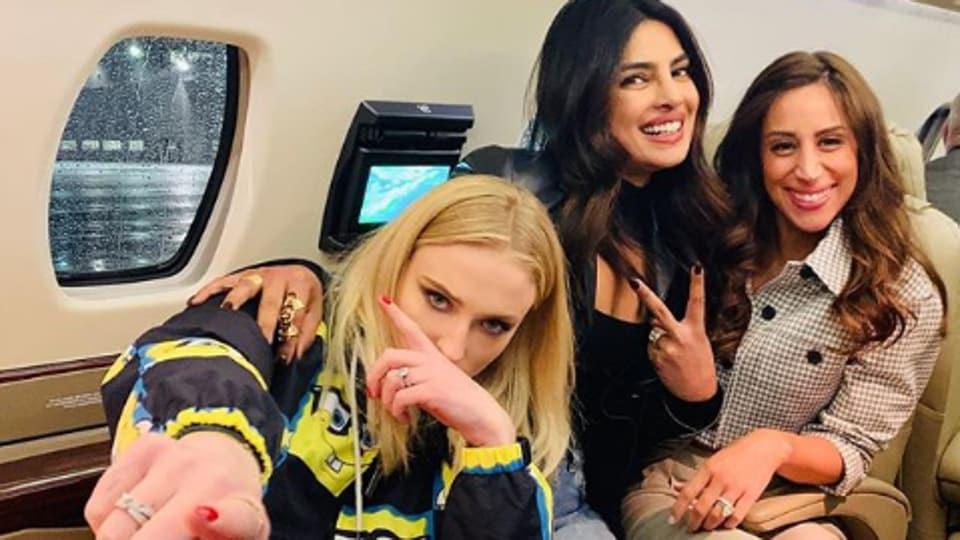 Priyanka Chopra with sisters-in-law Sophie Turner and Danielle Jonas.